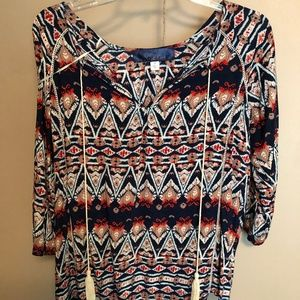 Patterned Blouse (S)